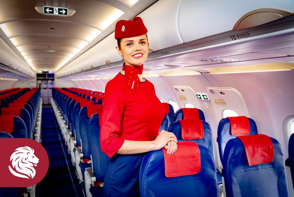Стюардесса авиакомпании FlyAristan